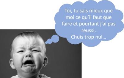 bébé triste parle
